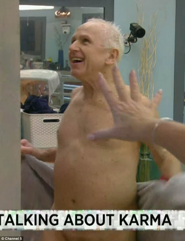 Cheeky! Wayne Sleep left his housemates horrified when he flashed his manhood at his screeching co-stars after having a shower
