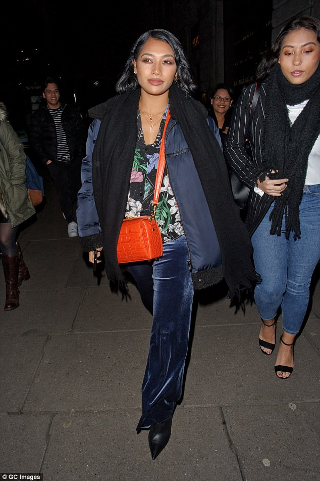 Amazing: Vanessa accessorised her look with an orange crocodile skin bag, as she enjoyed some mother-daughter time