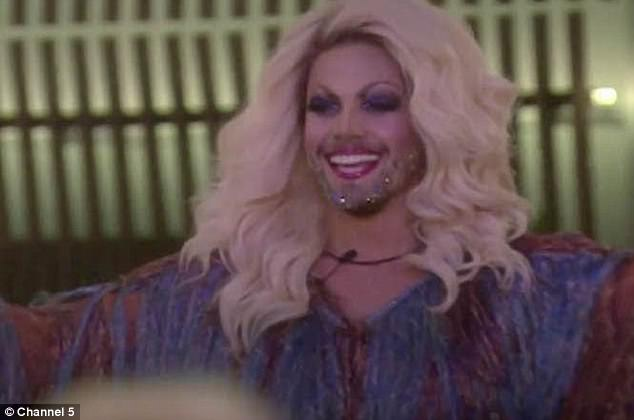 Drag drama: India came under fire for her reaction to drag queens in the house - namely housemate Shane J who doubles up as Courtney Act, and Andrew Brady's joke turn as Betty Swollox