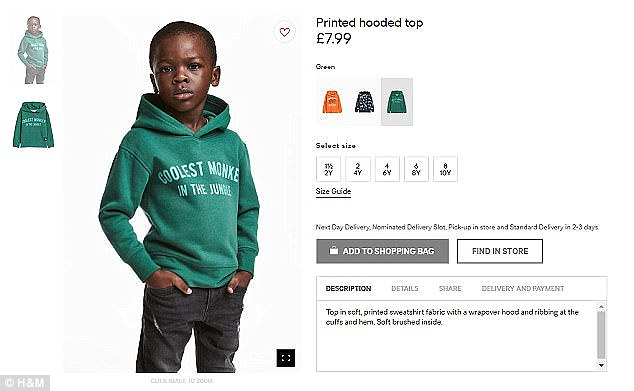 The advert featured child model Liam Mango. His mother has revealed she suffered online abuse after the controversy blew up