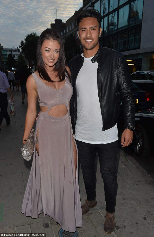 'Before I could blink we were walking down the aisle': CBB's Jess Impiazzi MARRIED England rugby star Denny Solomona in secret Las Vegas wedding(pictured together August 2015)
