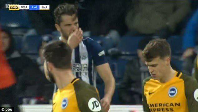 Allegations of racism were made against Jay Rodriguez during West Brom 's win over Brighton