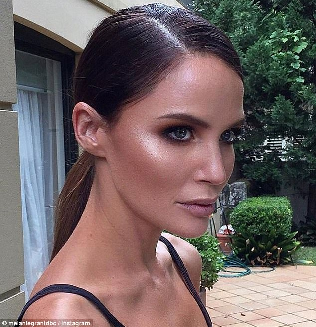 Melanie - who looks after the like of Lara Worthington, Nicole Trunfio and Jodi Anasta (pictured) - recommends applying mist for moisture
