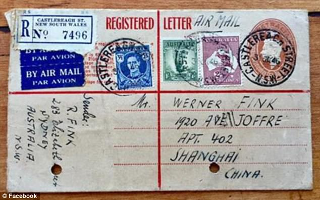 Letters (pictured) were among the incredible WWII documents found in the box