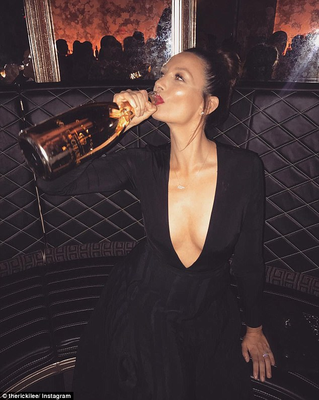 'Has gone straight to my a**': Ricki-Lee claimed all the bad food, wine and Champagne she'd enjoyed over the past few weeks had already had an impact on her figure