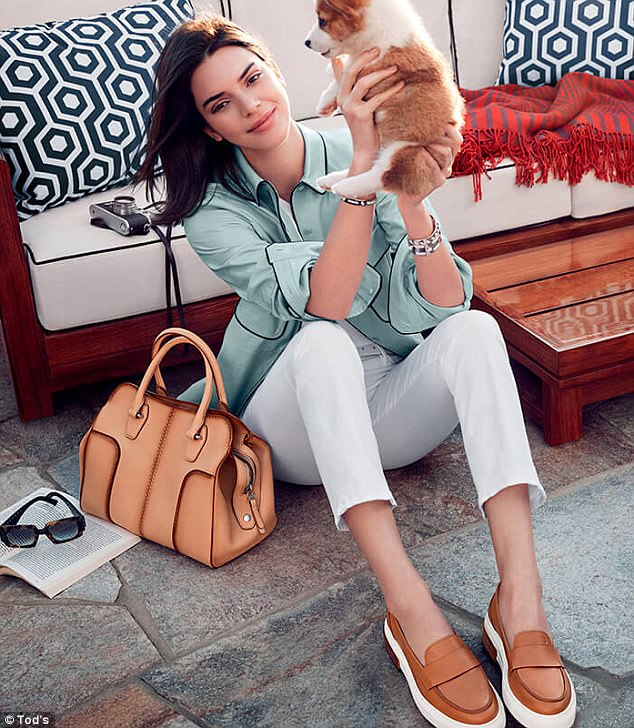 So chic: On Sunday, it was revealed at Milan Fashion week that Kendall Jenner was the new face of Italian luxury leather retailer, Tod's, alongside famed ballet dancer, Roberto Bolle