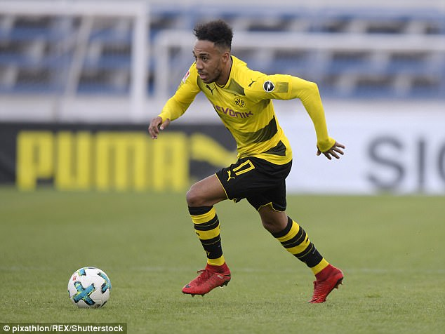 Arsenal are discussing a move for Borussia Dortmund striker Pierre-Emerick Aubameyang