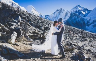 Couple tie the knot on Mount Everest after gruelling nine-day trek