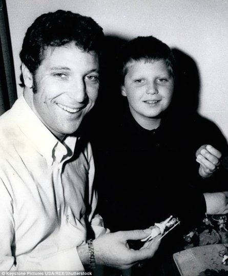 The pop sensation has a son called Mark (pictured when he was eight years old) who he conceived with his late childhood sweetheart Melinda Trenchard. She passed away in April 2016 aged 75