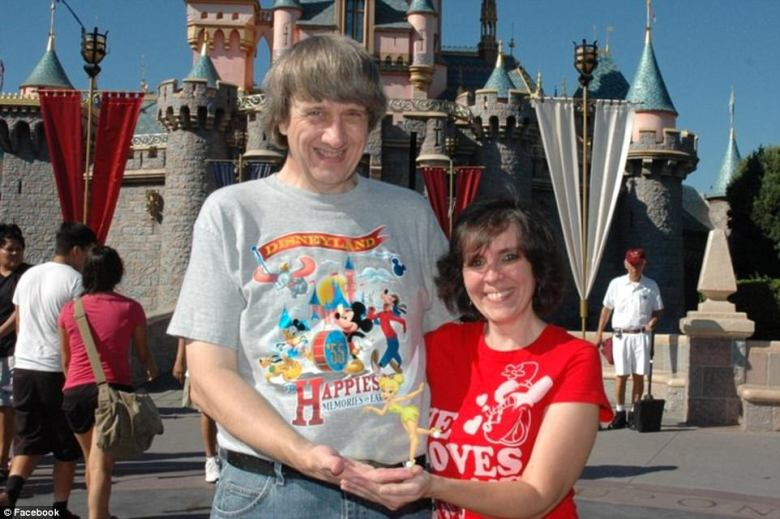 David and Louise are pictured in front of Disneyland's iconic castle appearing to hold Tinker Bell. The photo appeared on Facebook in October 2010 and was one of multiple trips to the theme park. It is photographs like this one and others where the children appear happy which lulled relatives into considering them a normal family