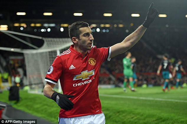 Manchester United's Henrikh Mkhitaryan is expected to join Arsenal in this transfer window