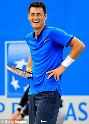 The contrast between Tomic's mood on the tennis court in 2016 to the weekend was obvious