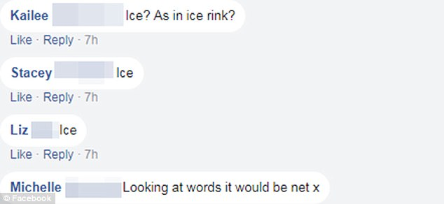 Many thought the correct answer was ice, while another suggestion was the word 'net'