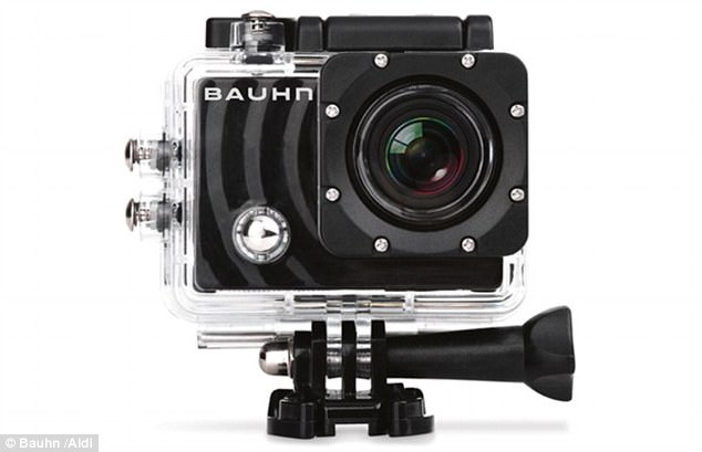 As part of Aldi's special buys offer this Saturday, it will be launching a high quality action camera by Bauhn (pictured) - for a bargain price of $69.99