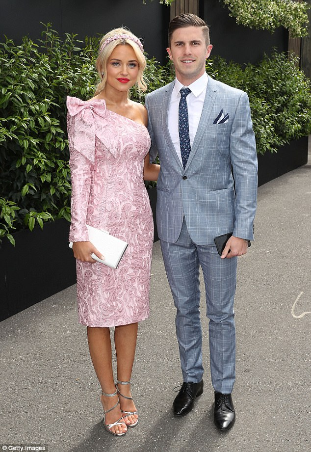 'The best day of our lives': AFL WAG Jessie Habermann gives birth to baby boy Max on Sunday with husband Marc Murphy