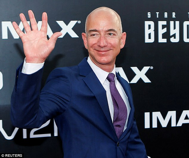Amazon CEO Jeff Bezos is pictured. The company has narrowed down the list of cities for its potential second HQ to 20