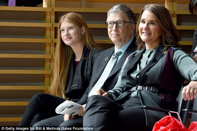 Jennifer Gates, and parents Bill and Melinda Gates attend the Goalkeepers 2017, at Jazz at Lincoln Center on September 20, 2017 in New York City