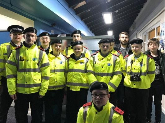 Acting Inspector Mick Andrew posted this photo on social media with the caption: 'Thetford Police Cadets heading out on [anti-social behaviour] patrols of the town centre'