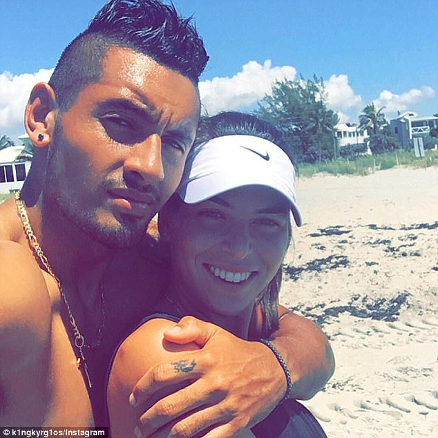 'I feel like I've always been a caring person. I guess it's just how you guys perceive it,' Kyrgios said