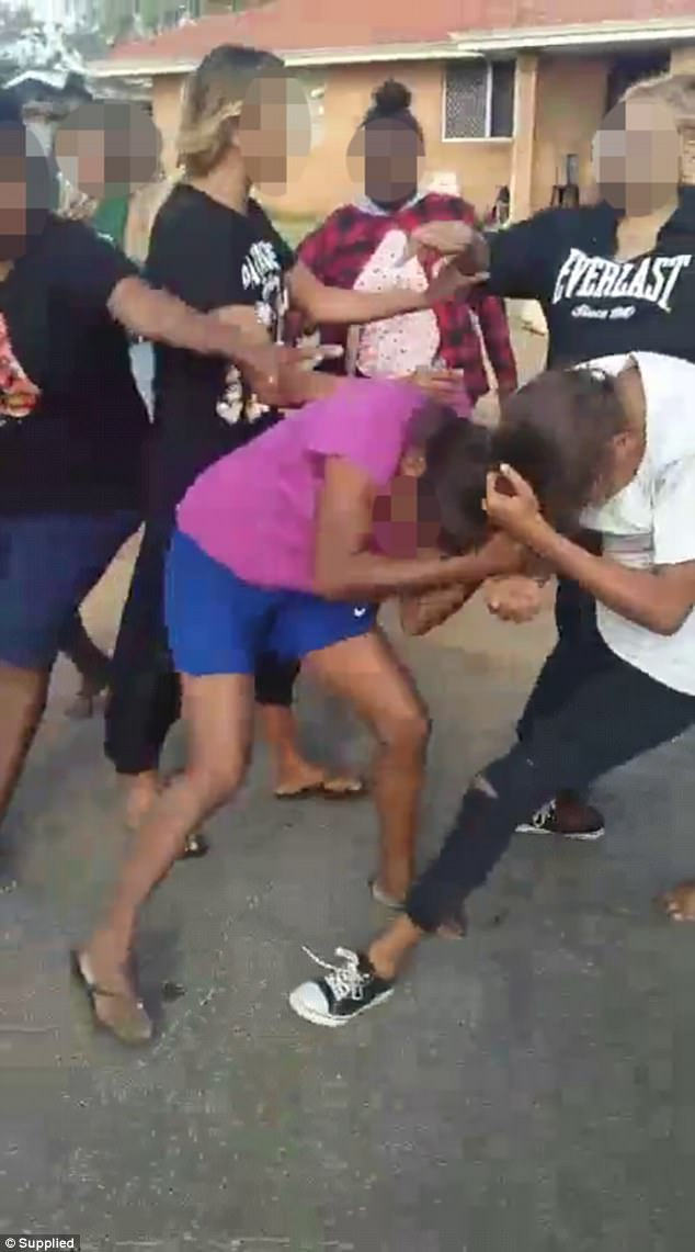 Some of the young women involved in the fight appeared to comment on the video, bragging