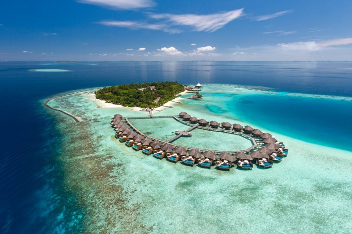 The Baros Maldives resort, which is perched on an island in the middle of the ocean, was named the best hotel for luxury