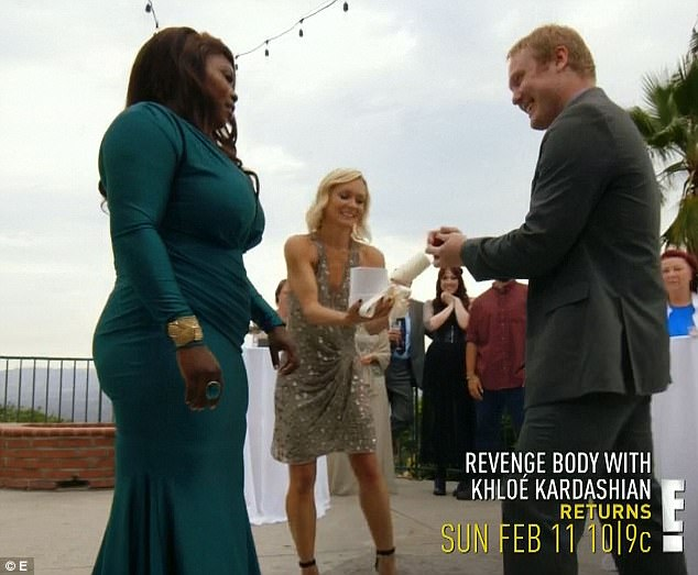 Surprise proposal: Shayla was seeking revenge on her mother on Sunday's episode of Revenge Body With Khloe Kardashian but got engaged instead