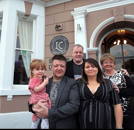 Carol-Lynn and Ian Robbins with their son Scott and daughter-in-law Hannah. The family all run the Lauriston Court and Lawton Court hotels in Llandudno