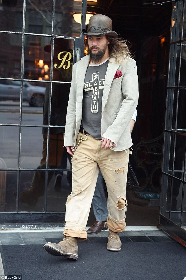 Jason Momoa teams bowler hat with double trousers  Daily