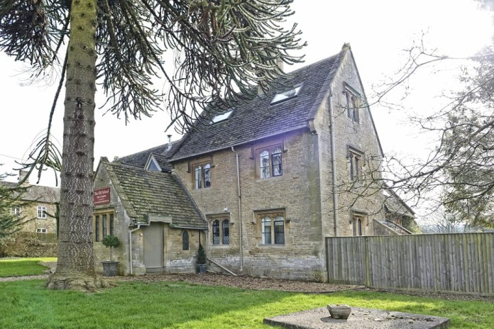 The outside of the Old School Bed & Breakfast in Gloucestershire, which has a raft of positive reviews on TripAdvisor
