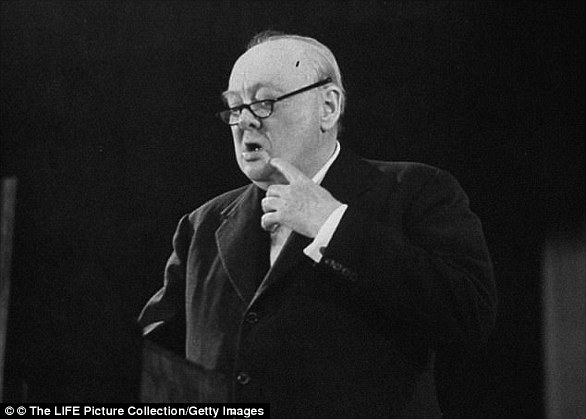 Winston Churchill delivers a rousing speech during the dark days of WWII