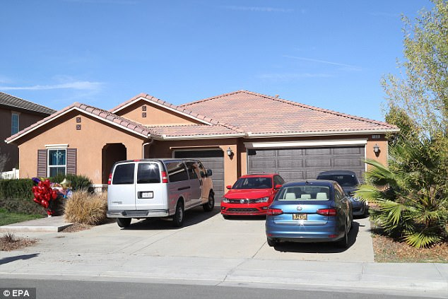 The 13 siblings lived at this property in Perris, California after moving from Texas