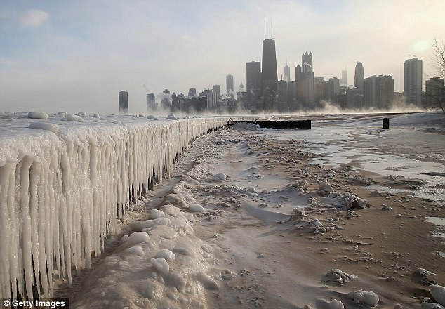 Socio-economic factors would have played a part in residents' evaluation of their states. Illinois (pictured, Chicago) ranked among the worst