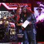 Janet Jackson presents Best pal,Missy Elliott with the Visionary Award at the Essence Black Women in Music