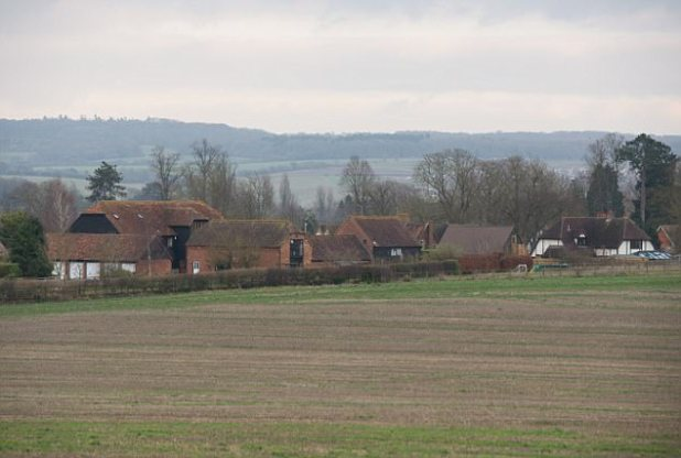 The village of Moulsford (pictured in a general view), which has featured in several episodes of Midsomer Murders, was the scene for the UK's first armed Bitcoin heist