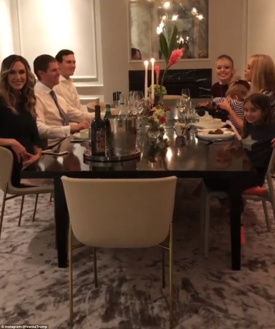 Ivanka Trump and Jared Kushner hosted a family dinner at their DC home ahead of the State of the Union on Tuesday night