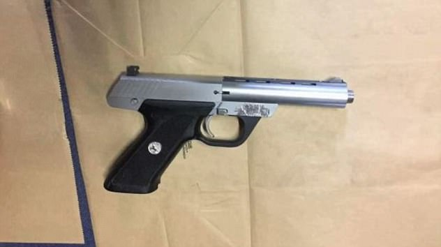 Police allegedly seized a loaded .22 calibre pistol with a silencer and ammunition from the North Wollongong unit