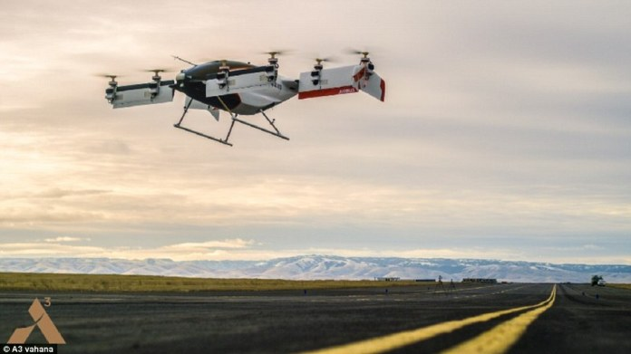 The prototype Airbus project Vahana with the Alpha One brand successfully completed its first test flight in February 2018. The self-propelled helicopter reached a height of five meters and then successfully returned to the ground. Overall, the test flight lasted 53 seconds