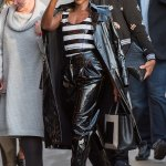 Lupita Nyong'o Sizzle In Leather For Jimmy Kimmel