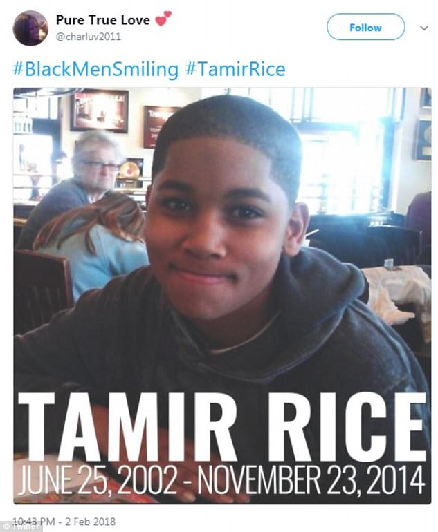 Several people also shared photos of Tamir Rice and Philando Castile, two men who were killed by police officers, to point out that they were unable to partake in the hashtag