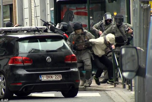 Dramatic video showed the moment Salah Abdeslam was captured in Brussels on 18 March 2016