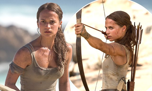 Alicia Vikander displays her athletic frame in Tomb Raider