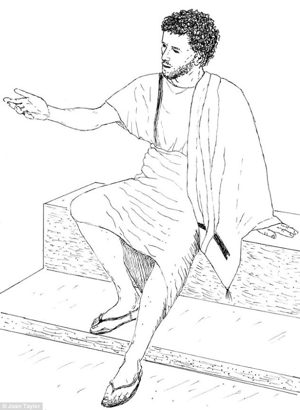 This artists impression, provided by Professor Joan Taylor, depicts an updated view of what Jesus looked like. A tunic made from one piece of material, unkempt hair and a notable lack of elaborate decoration