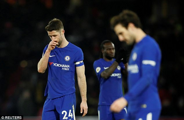 Chelsea were hammered 4-1 at Watford on Monday, their second three-goal defeat in a row