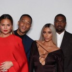 Pink,Kim K,Kanye West,Chrissy Teigen and John Legend attend Ellen DeGeneres' Birthday party
