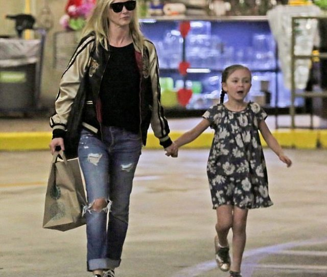 Sweet Kimberly Stewart Looked Every Inch The Doting Mum As She Stepped Out With Her