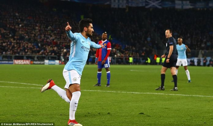 Gundogan opened the scoring for the Premier League leaders in the 14th minute with a clever near-post header