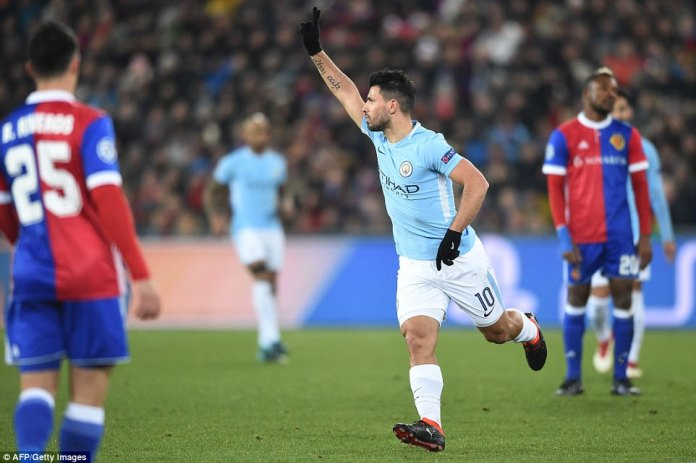 Sergio Aguero put the game beyond doubt in the 23rd minute after emphatically firing City 3-0 ahead