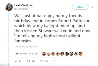 'Like two friends': Eagle-eyed witnesses described how the exes, who dated for almost four years after falling in love on the movie set of Twilight, appeared like 'friends hanging out'