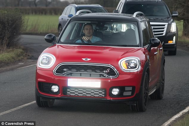 The Mini was certainly small in comparison with the 4x4s chosen by many of his team-mates