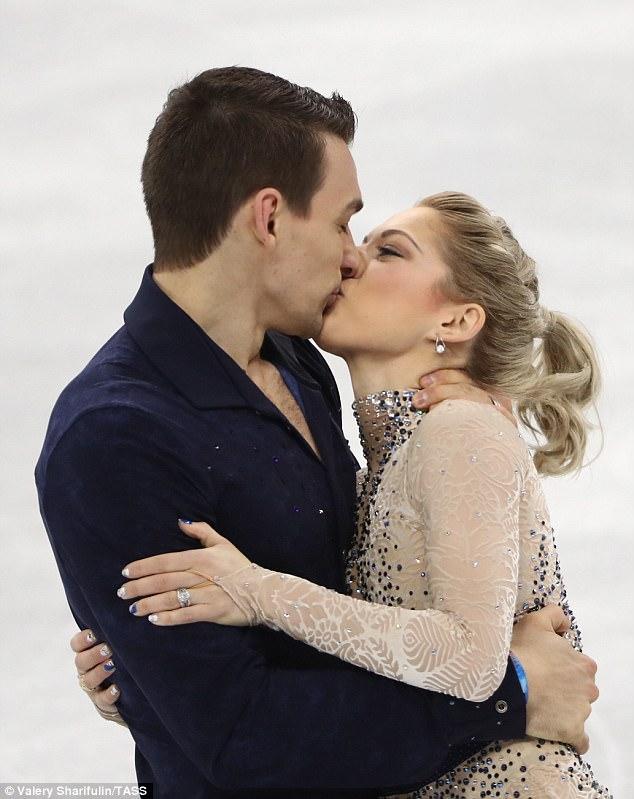 Team USA Olympic Figure Skaters Share A Passionate Kiss